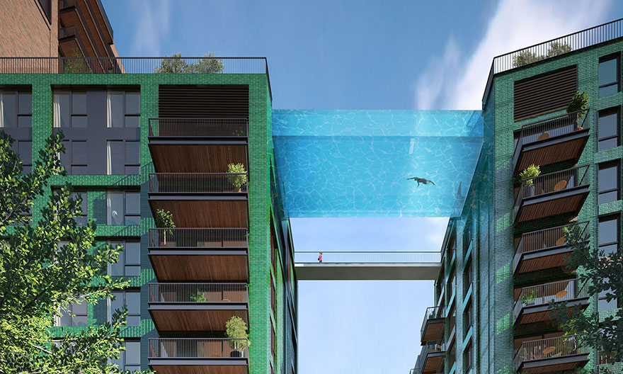 Glass-Bottom Sky Pool