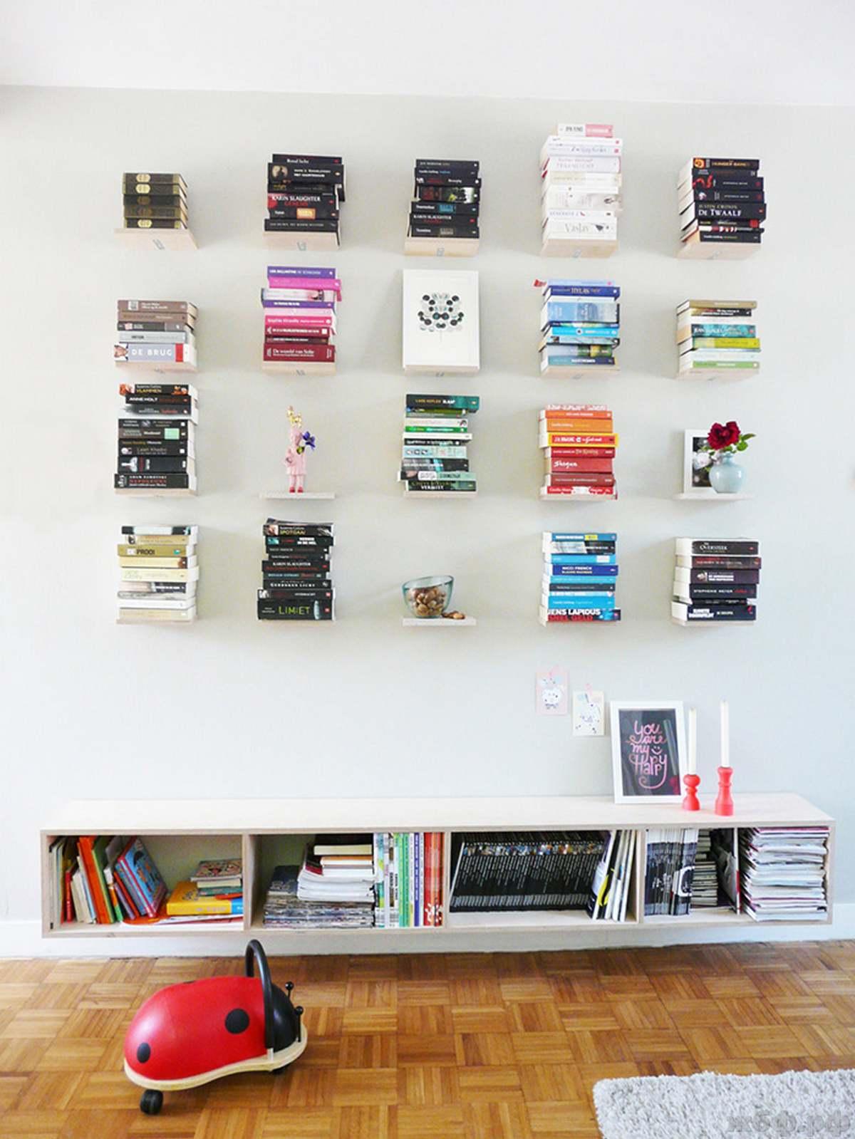 50+ самых креативных книжных полок.