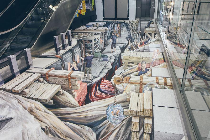 Удивительная 3D картина Рухо Папроцкого