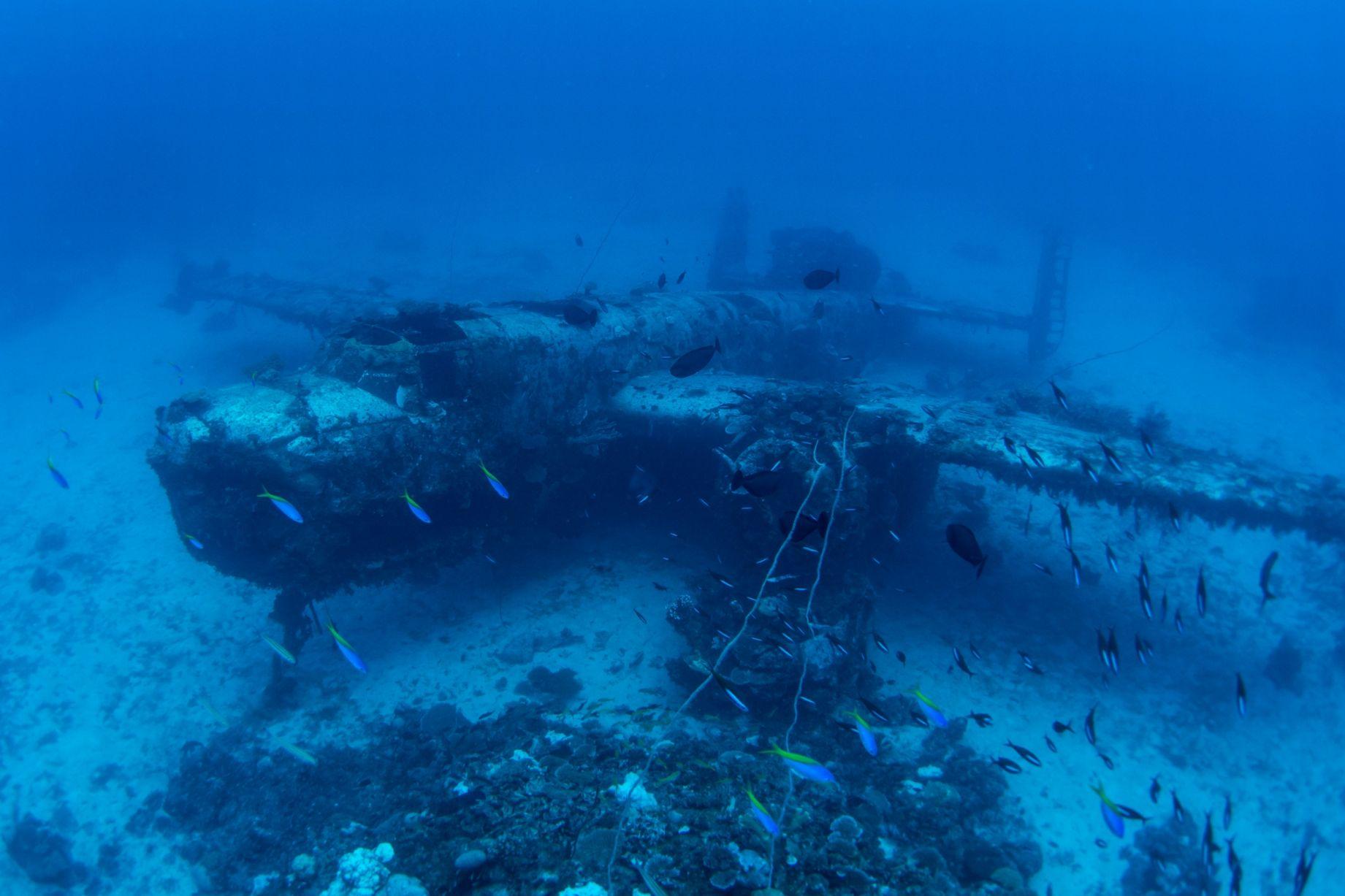 Фото самолетов на дне океана 2